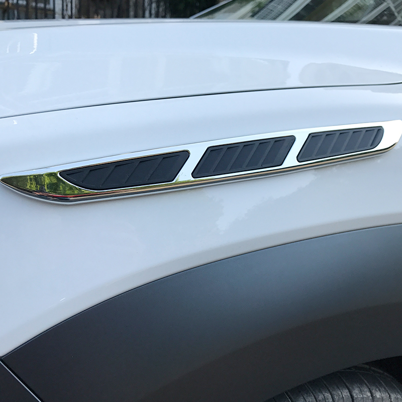 Lsrtw2017 Abs Car Engine Hood Door Side Ven Trims for Hyundai Encino Kona 2018  2019 2020