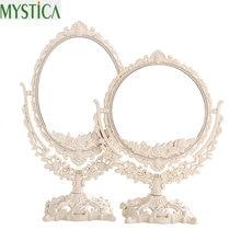 NEW360 вращающееся женское зеркало для макияжа винтажное цветочное овальное круглое ручное зеркало принцесса элегантный Макияж Красота espelho de maquiage