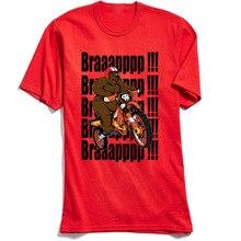 Moto Biker T-shirt Men Red Tshirt Out Of The Way! T Shirt New Design Short Sleeve 100% Cotton Fabric Mans Summer Tees Bear Print