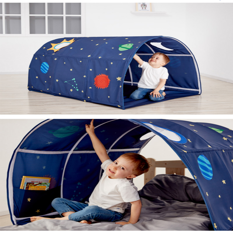 Tienda de campaña portátil para niños para jugar a la casa para niños plegable pequeña tienda de Decoración de casa, túnel de arrastre, pelota, piscina, tienda de campaña - 2