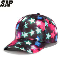 NEW Fashion Men Hip Hop Hats Leisure Baseball Caps Snapback Cap Women 3D Star Printing Hats
