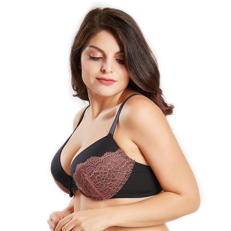 217762c08f Sexy women bra plus size D E cup push up bra brassiere side adjustment  underwear 85 90 95 100 USD 6.65-8.31 piece
