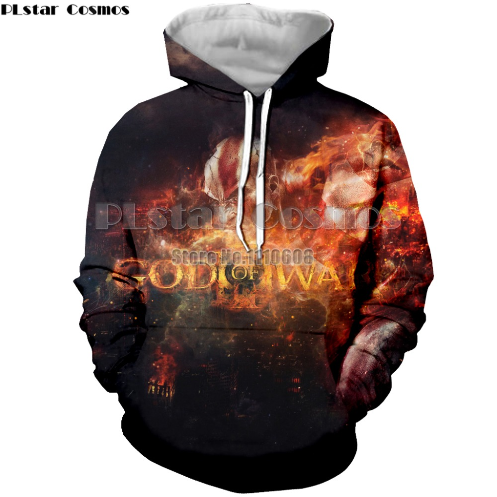 YX New latest fashion hooded game God of war men and women hooded 3D printing men and women hoodies top brand clothing