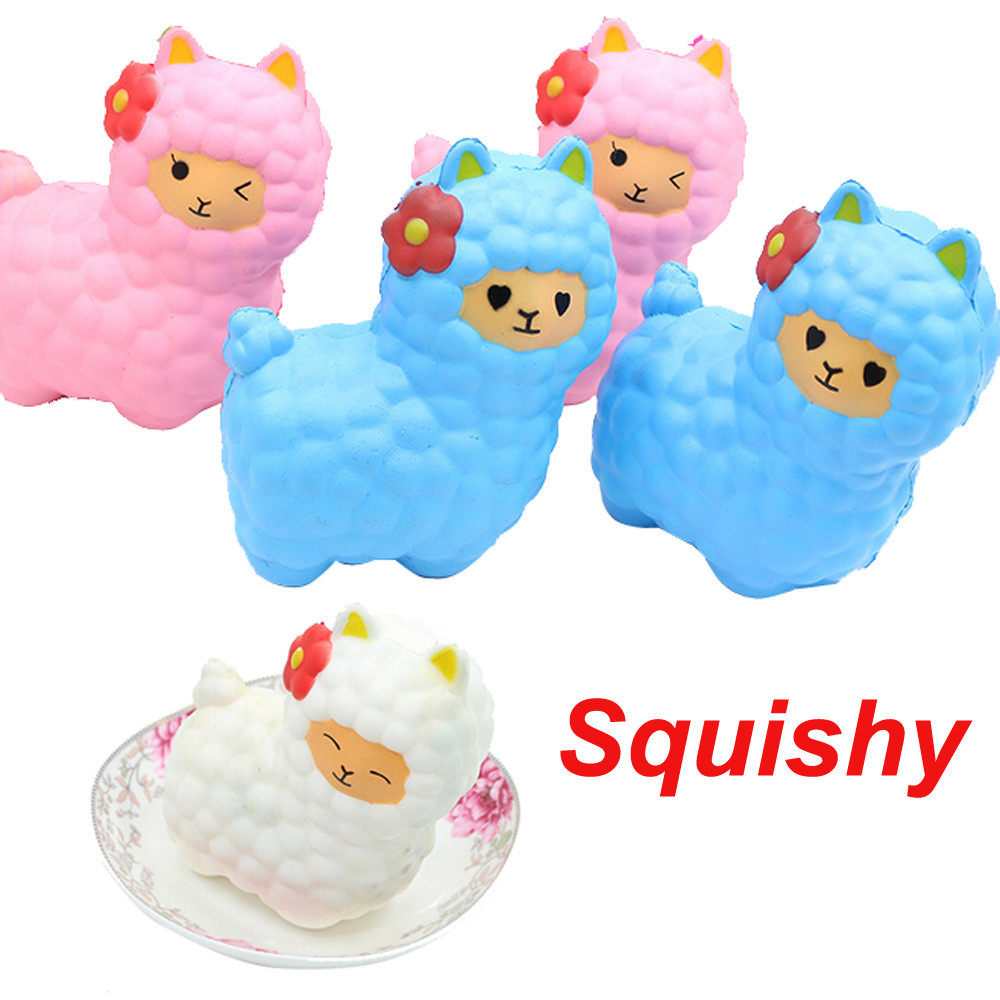 Jumbo Sheep Squishy oyuncak Antistress slime Cute Alpaca Galaxy Super Slow Rising Scented Fun Animal Toys
