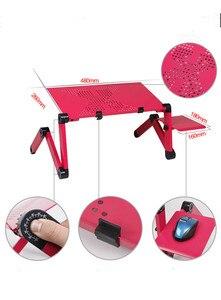 Image 2 - נייד מתקפל מתכוונן מתקפל שולחן מחשב נייד שולחן מחשב mesa para עמדת מחברת מגש עבור ספה מיטה שחור או אדום
