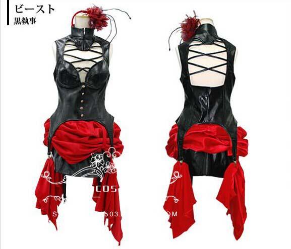 Kuroshitsuji Black Butler Circus Troup Beast Dress Cosplay Costume Custom Made