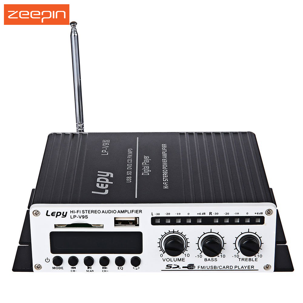 2 x 180W Output Power Amplifier Lepy LP - V9S Hi-Fi Stereo Loudsper Support FM Function with Romote Control, Power Switch, etc