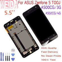цена на WEIDA 5.0 For ASUS Zenfone 5 T00J A500KL A500CG/3G A501CG A502CG A502CG/4G LCD Diaplay Touch Screen Assembly Frame With Tools
