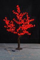 1.5 M 5ft rouge LED Simulation Cherry Blossom arbre Lumière De Noël en plein air De Mariage Jardin Lumière de Vacances Décor 480 LEDs étanche