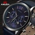 2016 mens relógios amuda casuais marca de luxo militar quartz sports relógio de pulso pulseira de couro relógio masculino relógio relogio masculino