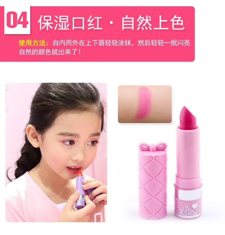 cosméticos princesa maquiagem conjunto menina brinquedos portátil