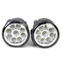 Beler 2pcs Right Left Fog Lamp Light 9 LED DRL Daytime Running Light For Nissan
