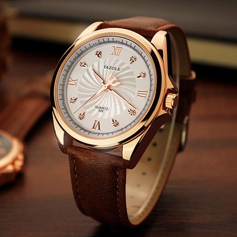 New YAZOLE Watch Thread Business Men Watch Korean Large Dial Male Watch Rhinestone Designer Relojes Hombre Relogio Masculino