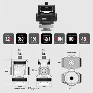 Image 4 - Monitör braketi standı 180 derece döndürülmüş monitör montaj tutucu soğuk ayakkabı ile Video ışıkları mikrofon DSLR VideoMaker Vlogger