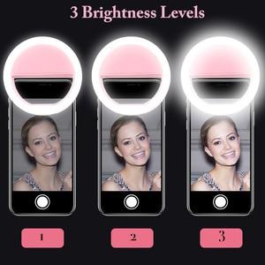 Image 2 - KISSCASE Selfie פלאש אור LED למלא מנורת נייד נייד טלפון נוריות Selfie טבעת זוהר קליפ אורות עבור iPhone smartphone