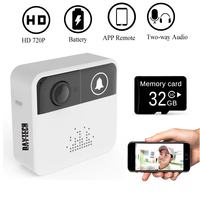 DAYTECH Wireless WiFi Video Doorbell Camera Door Bell Ring Alarm Chime Door Phone Intercom/Audio Free APP Control iOS Android