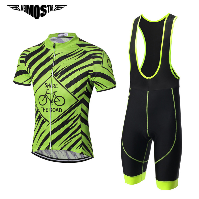 2018 Cycling Jersey Men/'s  Weimostar Bicycle Suit Team Bike Shorts Cycling Set