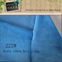 Blue Fur Fabric 222 Anti Pilling Polyester Super Soft Minky Solid Short Pile Plush Fabric For