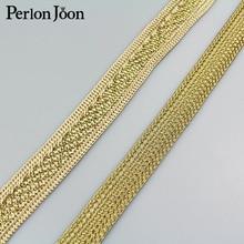1 ярд 1,9 см новая золотая нить полиэстер тесьма Одежда Сумка Обувь декоративная лента тканые декоративные аксессуары ZD004