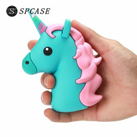 SPCASE 2000mAh Unicorn Cartoon Emoji Shaped Power Bank For Iphone X Portable External Battery Charger For