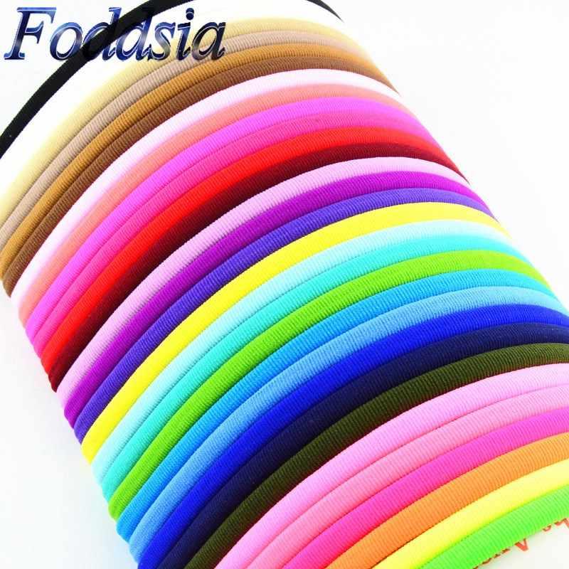 Foddsia 100ピース/ロット31色uピックバルクタンヌードナイロンヘッドバンドスパンデックスヘアバンドワンサイズは、ほとんどナイロンヘアアクセサリーf34