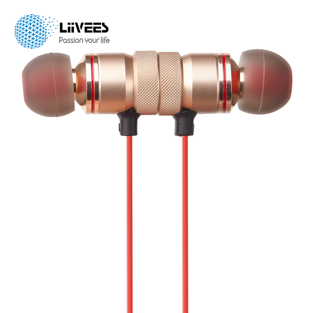 imágenes para K03 LiiVEES Imán Del Auricular en la oreja Wireless sport fone de ouvido Bluetooth Estéreo HD juegos Hi-fi audifono Auriculares mic para el teléfono
