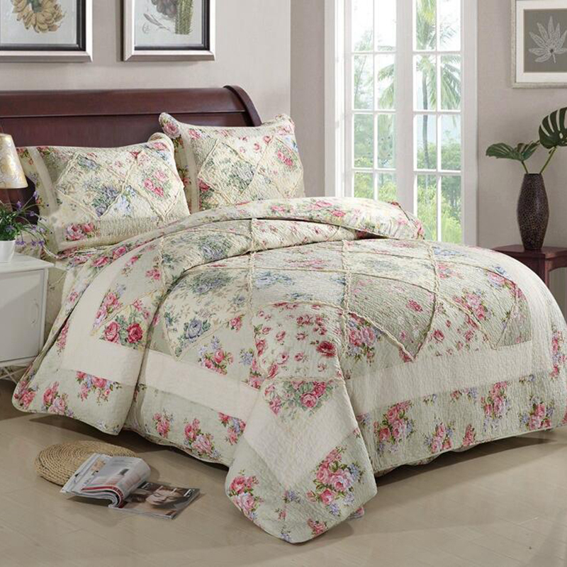 3 Pieces/Set 100% Cotton Quilted Bedspread Set High Quality Bed Sheet Cover Sets Pillowcase 230*250cm