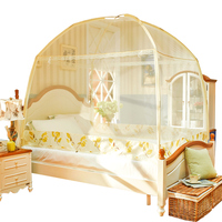 Folding Yurt Mosquito Net Princess Style Anti Mosquito Net For Girls Room Decor Lace Canopy Nets Fine Mesh Curtain Tent klamboe
