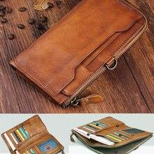 Vintage Genuine Leather Wallet Men Wallet