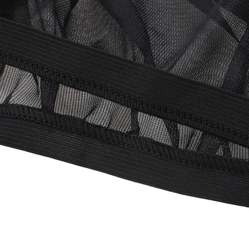 2pcs Black Car Rear Side Window Mesh Sun Visor Shade Cover Shield UV Protector Mesh