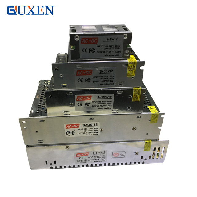 Светодио дный трансформатор питания светодио дный прокладки AC/DC 110 В-220 В до 12 В 1A/2A/3A/5A/8A/10A/12A/15A/20A/25/30A коммутации