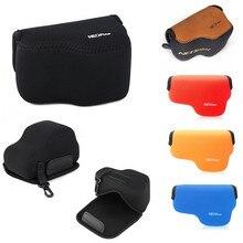 LimitX Portable sac photo néoprène doux étanche housse intérieure pour Sony A6000 NEX 6 avec lentille 16 50mm