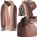 2016 cachecol feminino hembra invierno cálido bufanda del color del gradiente de la manera del mantón de la cachemira larga bufanda de las mujeres