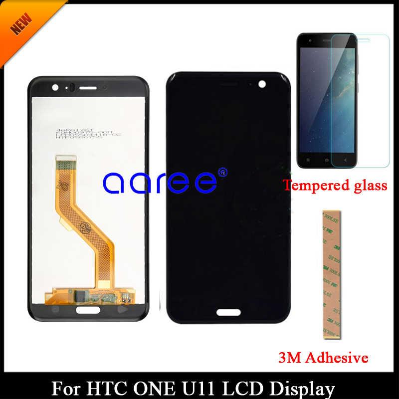 100% اختبار الصف AAA شاشة الكريستال السائل ل HTC U11 U-3w W-1w ل HTC U11 U-3w شاشة عرض LCD مجموعة رقمنة اللمس W-1w