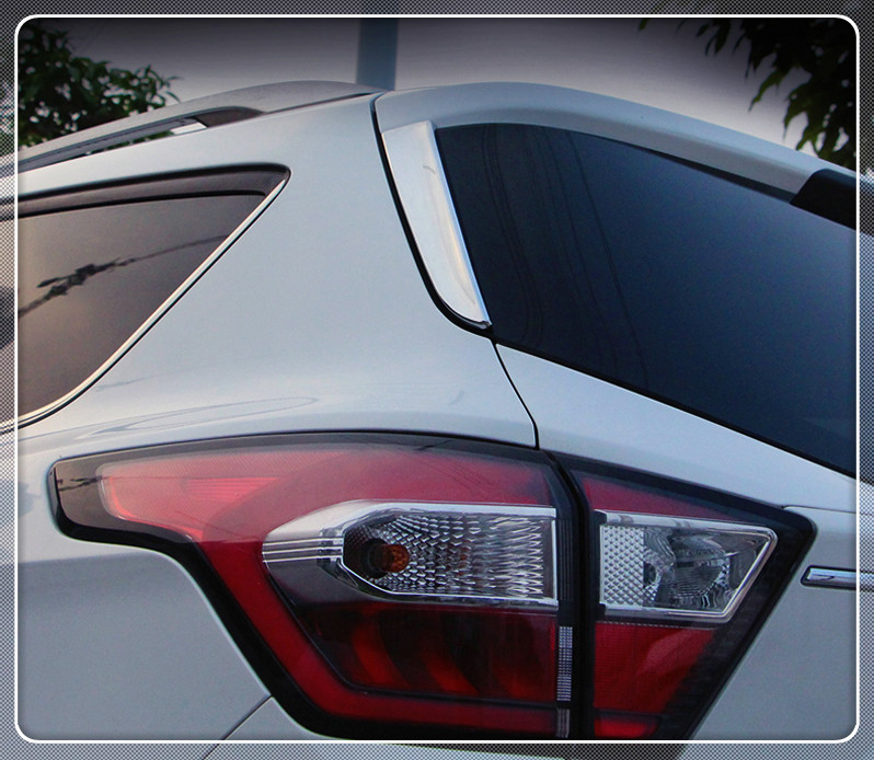 2PCS Car ABS Chrome Rear Trunk Window Side Cover Trim For Ford Kuga/Escape 2013 2014 2015 2016 2017 car cover Auto accessories car auto accessories rear trunk molding lid cover trim rear trunk trim for nissan sunny versa 2011 abs chrome 1pc per set