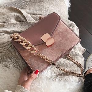 Image 5 - Luxury Handbag Retro Fashion lady Square bag 2020 New Quality PU Leather Womens Designer Handbag Chain Shoulder Messenger Bags