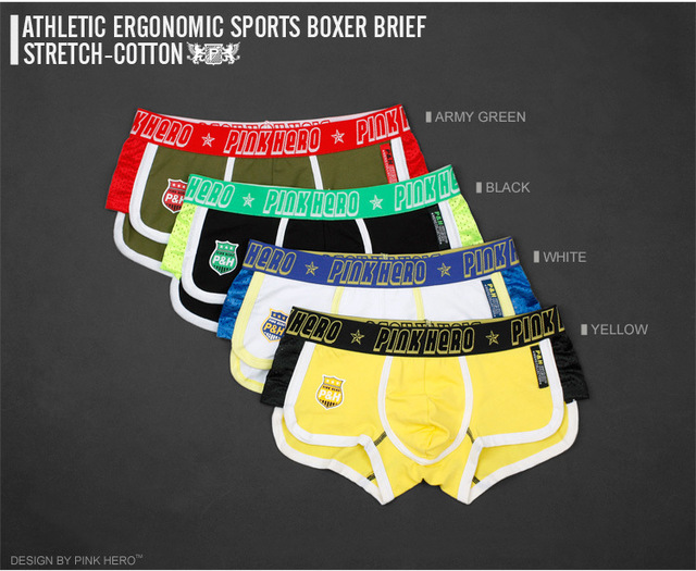 sexy Breathable  boxer shorts for Men