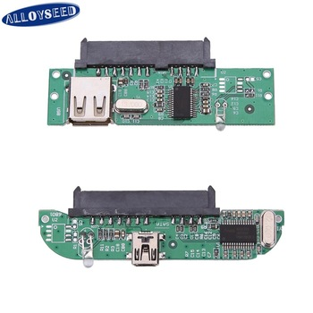 New 2.5inch USB 2.0 TO SATA 7 + 15 Pin Hard Disk Adapter Converter for 2.5