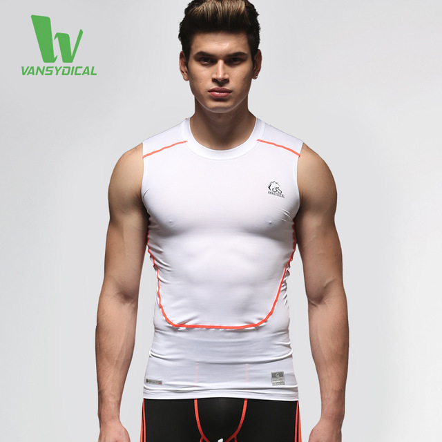 Alta Qualidade de Fitness Colete Apertado-roupas de Verão Sportswear Camiseta Homens Ao Ar Livre de Secagem Rápida Ocasional Parte Superior Do Tanque de Musculação