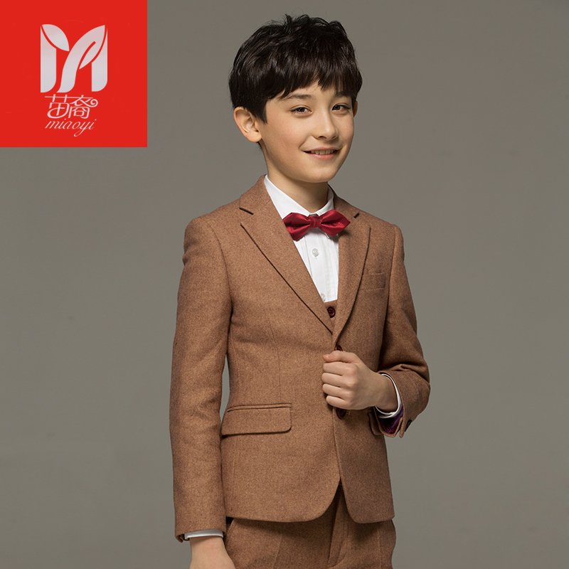 2017 children's leisure clothing sets kids baby boy suits Blazers vest gentleman clothes for weddings formal clothing 2016 new arrival fashion baby boys kids blazers boy suit for weddings prom formal wine red white dress wedding boy suits
