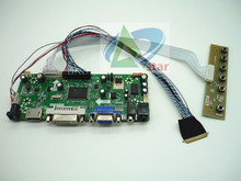 HDMI + DVI + VGA + AUDIO LCD kontrol paneli seti 15.6 inç B156HTN03.3 1920*1080 LCD denetleyici kurulu DIY kitleri
