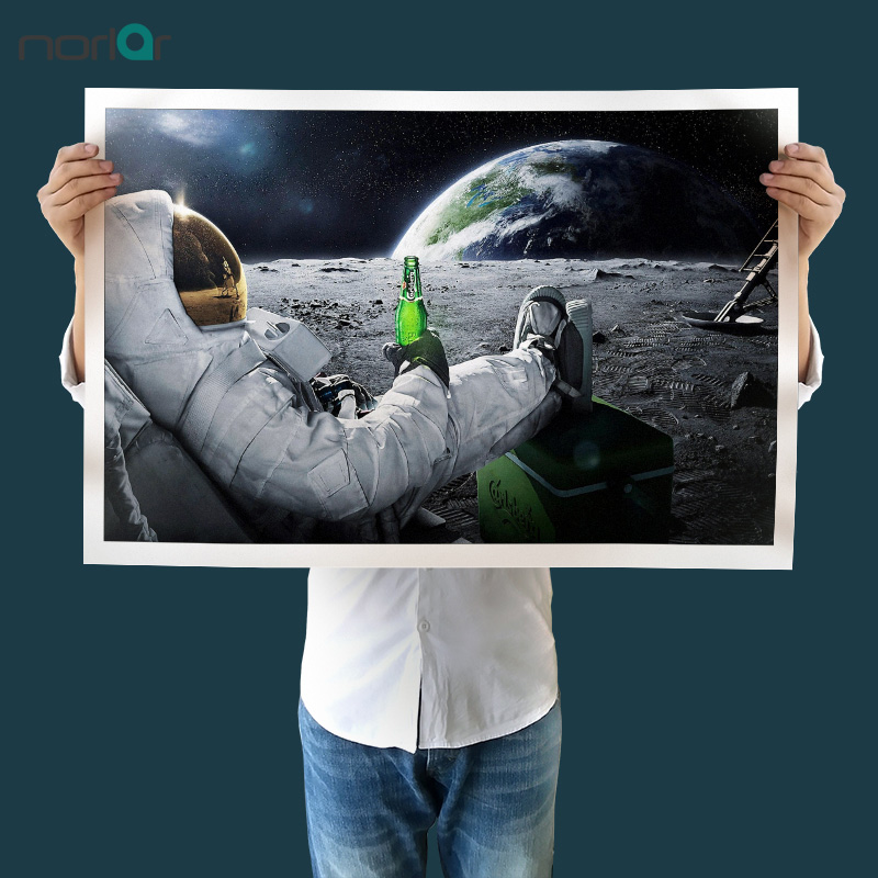 HD Printed Wall Art Canvas Astronaut Drinking Carlsberg ...