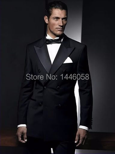 buy ternos masculino 2015 custom made double breasted mens tuxedo suits for wedding groomsmen suit costume homme jacketpantbow - Smoking Hugo Boss Mariage