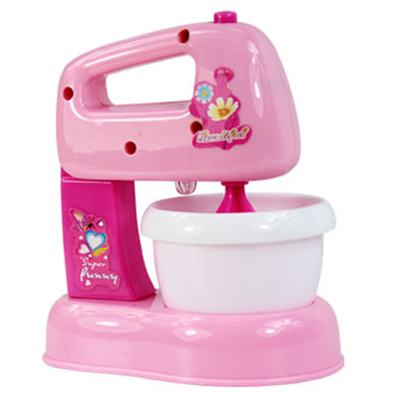 giocattolo da cucina mixer mini casa i bambini pretend gioca rosa led luce robot da cucina