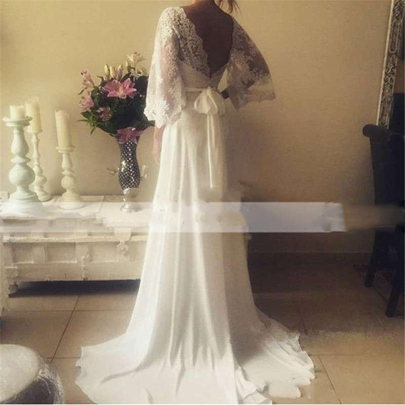 bohemian-wedding-dresses-illusion-lace-bridal-gown-backless-long-sleeve-deep-v-neck-wedding-gowns-boho-chiffon-plus-size-beach-bridal-dress