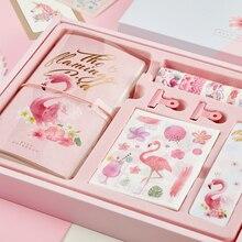 TN Spiral Flamingo Space Bullet Journal Diary Handbook zestaw podróżny notatnik terminarz z naklejka do zrobienia w domu taśma Washi piękna Agenda