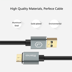 Image 5 - LLANO USB 3.0 Type A Micro B USB3.0 Data Sync Cable Cord for External Hard Drive Disk HDD Samsung S5 USB C hard drive cable