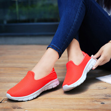Plus Size Women Shoes Sneakers Flat Platform Shoes Casual Loafers Air Mesh Breathable Non-slip Soft Bottom Student Dance Cozy timeswood flat women shoe comfortable air mesh non slip female shoes breathable bowknot lightweight casual handmade size 35 40