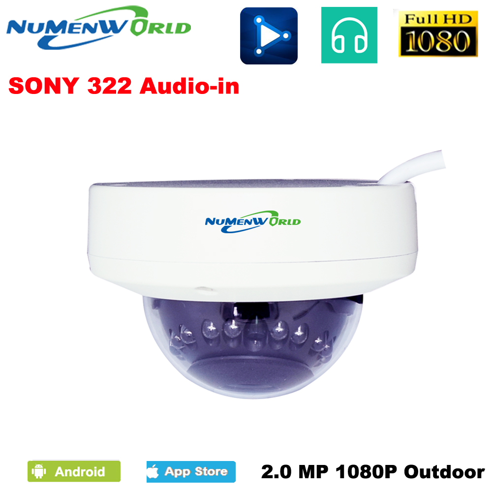 Beautiful IPC 1920 1080p Audio in Motion Detect Waterproof Bullet Indoor Outdoor H 264 P2P ONVIF