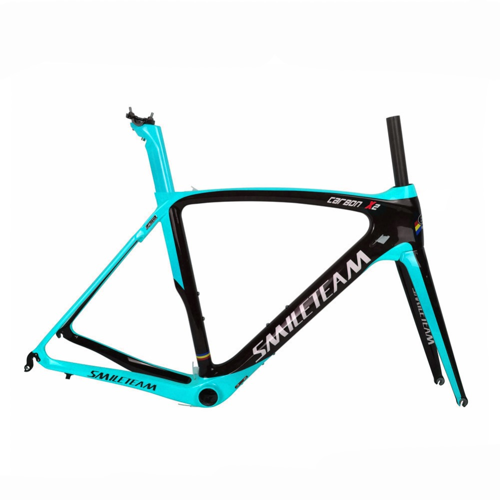 Newest carbon road frame 2018 super light DI2 carbon road bike frame with fork+headset+seatpost+clamp bicicleta carbon frame 2018 winow aero road carbon bike frame china oem full carbon aero frame with fork seatpost clamp headset more color